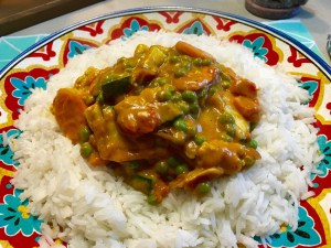 Indiase curry en basmati rijst