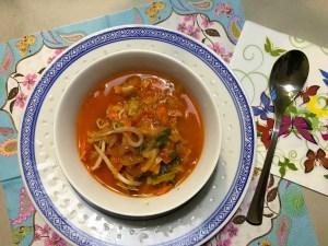 resultaat Chinese tomatensoep