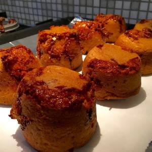 gebakken snickers muffin