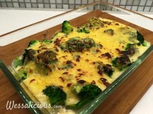 Gegratineerde Broccoli met kaassaus