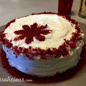 Lekkere Red Velvet taart