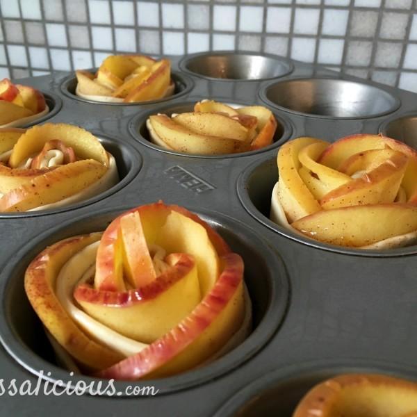 Appelrozen van bladerdeeg voorbereinding