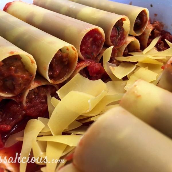 nieuwe Cannelloni met tomaat en spinazie