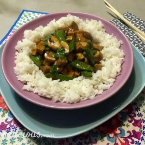 Thaise Champignons met rijst