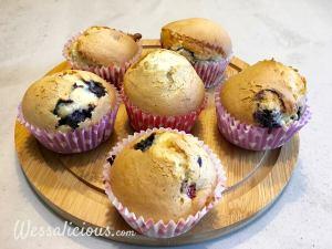 Eindresultaten Frambozen-bosbessen muffins