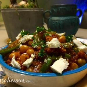 Grieks éénpansgerecht met Feta en peterselie