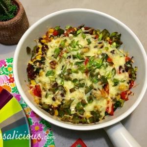 Eindresultaat Mexicaanse ovenschotel met spinazie