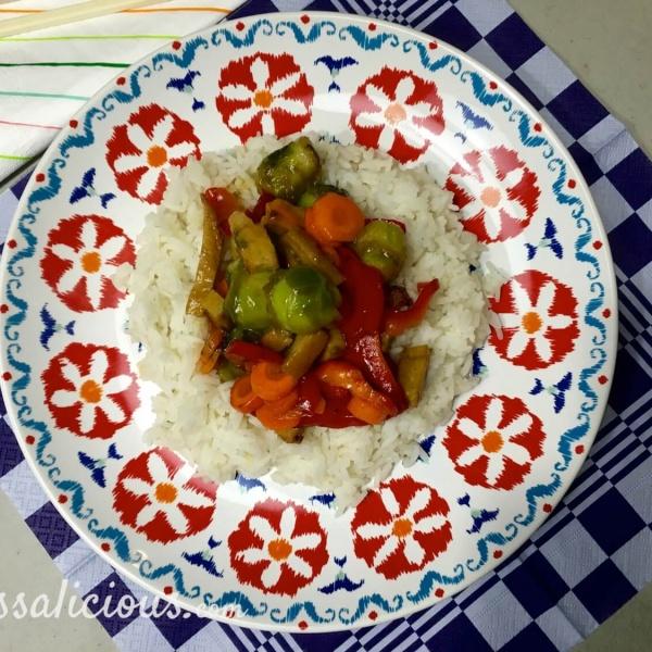 Voorbeeld Teriyaki spruitjes met rijst