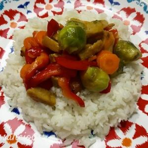 resultaat Teriyaki spruitjes met rijst