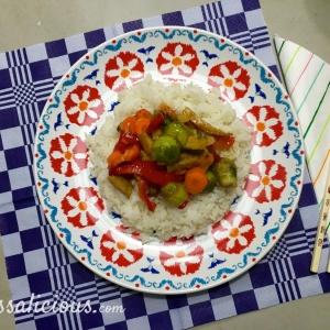Lekkere Teriyaki spruitjes met rijst