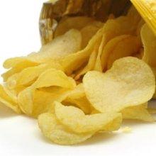 een zak gezouten chips