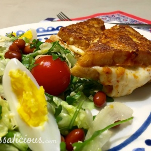 Salade met Mozzarella tosti