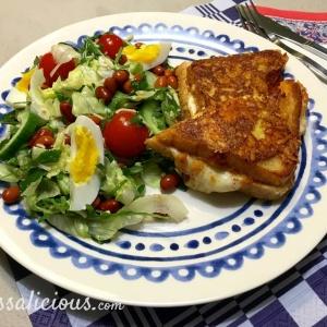 Voorbeeld Mozzarella tosti met arrabbiata pesto