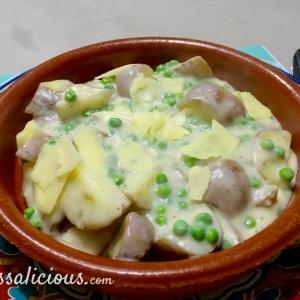 eindresultaat Romige aardappelstukjes met parmezaanse kaas