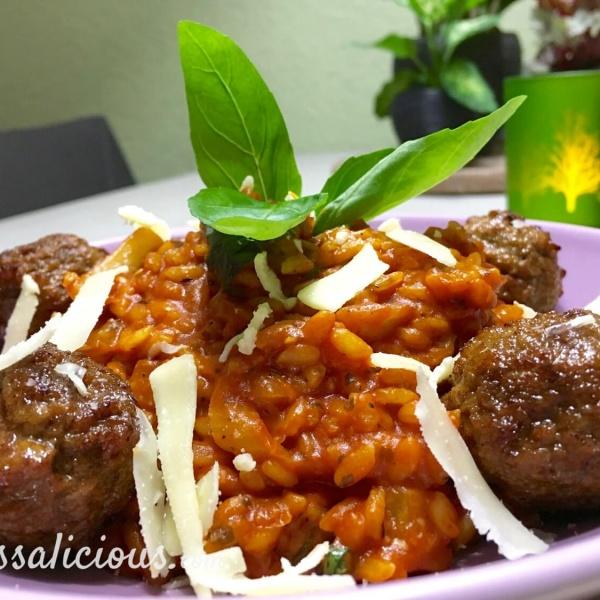 Lekkere Stevige risotto met tomaat