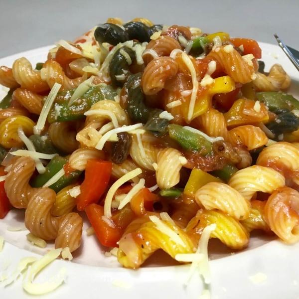 Verrassende Cajun pasta met paprika