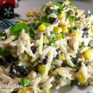 Smeuige enchilada rijst met zure room