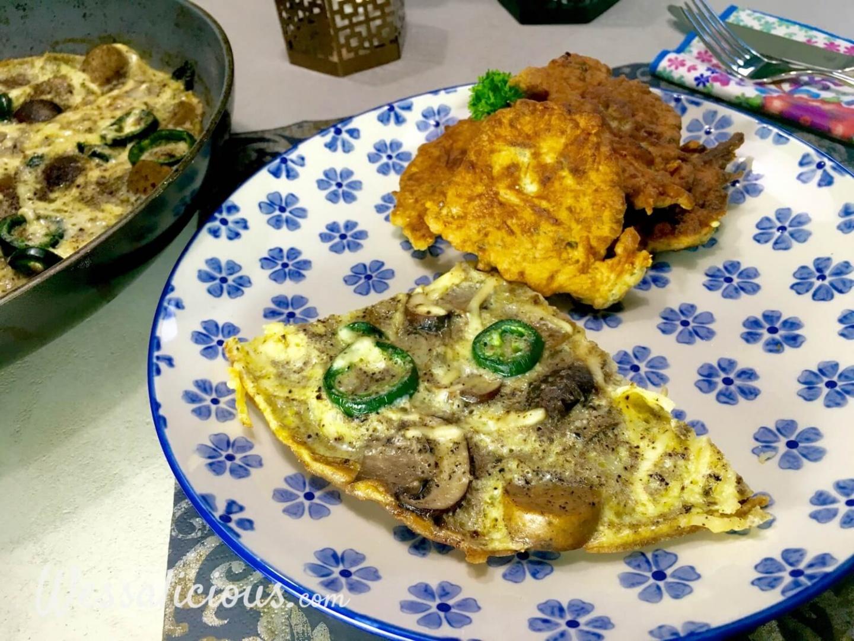 Turkse omelet met kaastortilla's