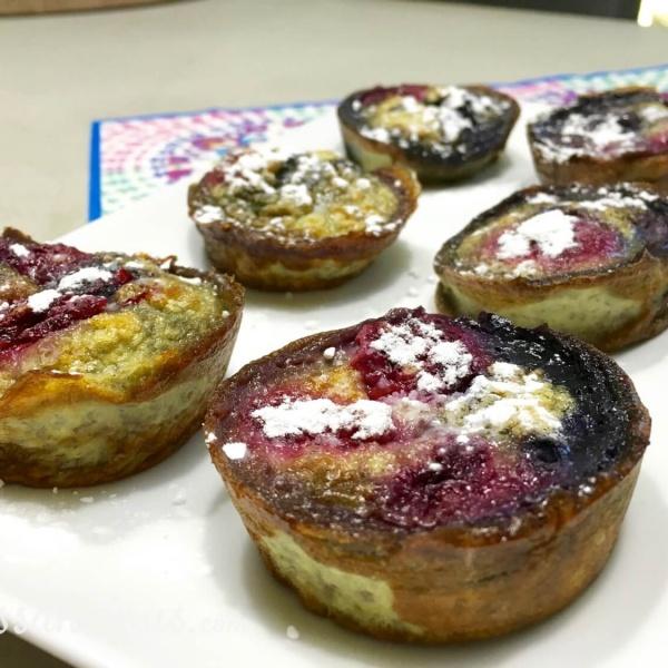 Gezonde zoete muffins van ei