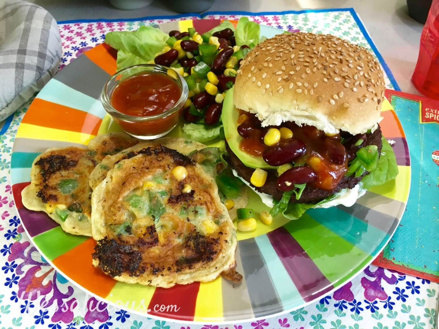 Mexicaanse burger met