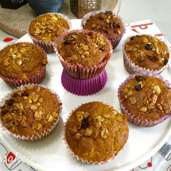 Lekkerre Volkoren muffins met Muesli en yoghurt