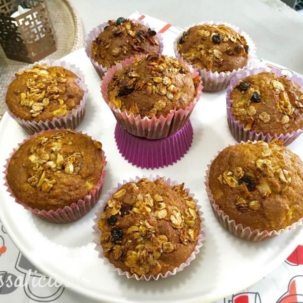 Eindresultaat Volkoren muffins met Muesli en yoghurt