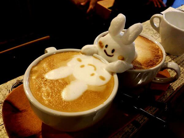 latte art Miffy