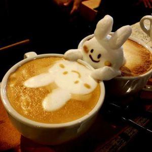 latte art Miffy