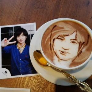 latte art portret
