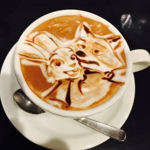 latte art Pixar