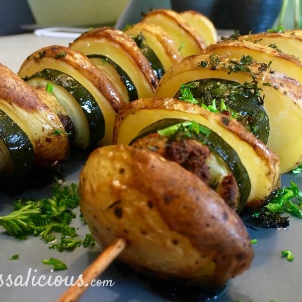 Spiesjes van aardappel