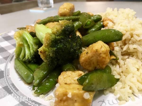 lekkere Rijstschotel met cashewnoten en groene groenten