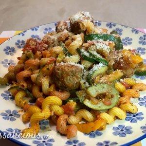 lekkere Kruidige pasta met courgette