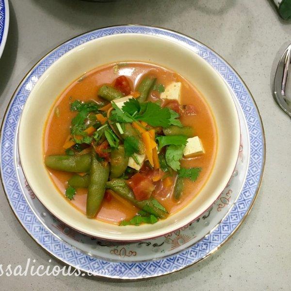 Vegetarische Romige Thaise tofusoep