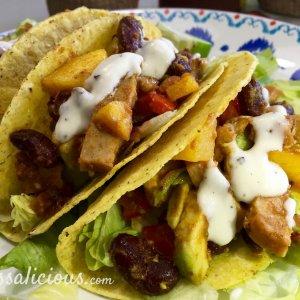lekkere Frisse taco's met limoenmayonaise en avocado