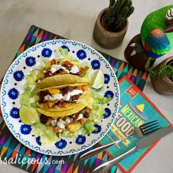 overzicht taco's met limoenmayonaise