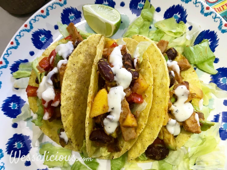 eindresultaat Frisse taco's met limoenmayonaise