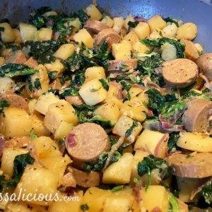Voorbereiding Zwitserse aardappelschotel