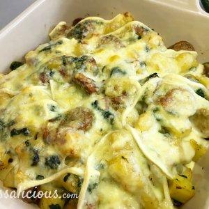 Zwitserse aardappelschotel uit de oven