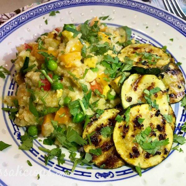 Lekkere Frisse limoen-courgette met Thaise rijst