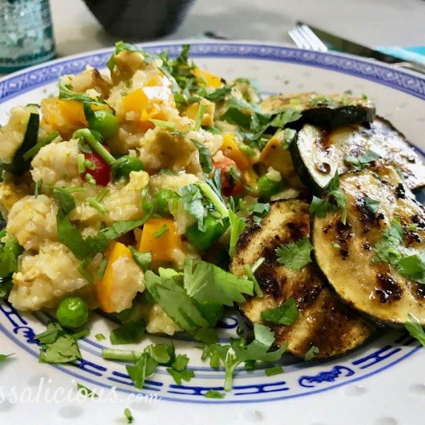 Kruidige Frisse limoen-courgette met Thaise rijst