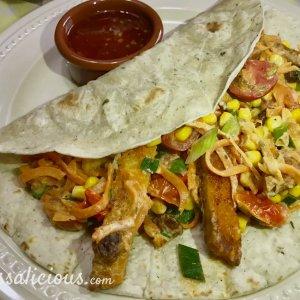 Wraps met vegetarische schnitzel