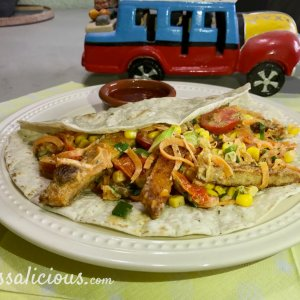 Overheerlijke Wraps met vegetarische schnitzel