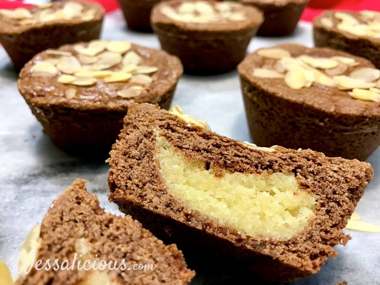 amandelspijs in de sinterklaas cupcakes