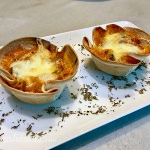 Smeuige Mini lasagne's van wraps