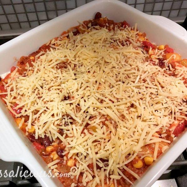 voorbereiding Mexicaanse lasagne