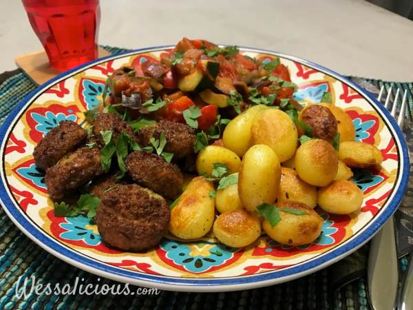 Lekker krieltjes met falafel