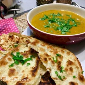 Dahlsoep (Indiase linzen soep) en koriander