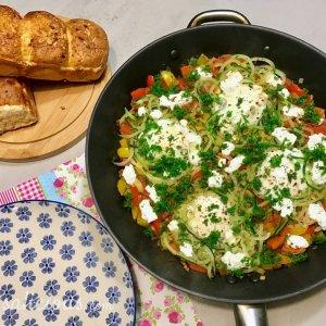 eenpansgerecht met courgette en ei