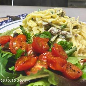 Vegetarische Pasta carbonara